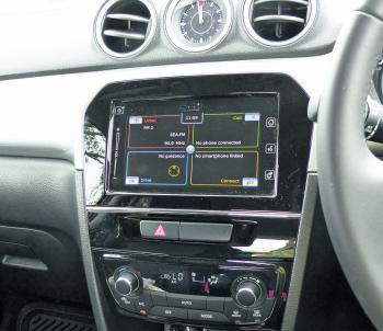 A four quadrant touch screen is a great feature in a car in this section of the market.