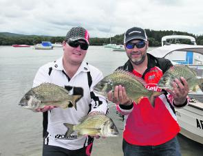 Tim Staunton and Chris Gates from Team Berkley Mako Eyewear.