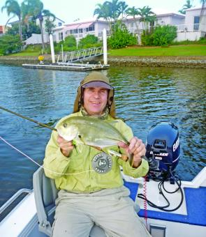 Trevally like this one could be easily handled with an 8wt outfit.