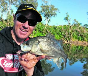 Suspending hard bodies like the C'ultiva Rippin Minnow or Halco Hamma 85 will work well cast to the snags in the freshwater reaches of the Brisbane River.