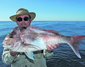 It is just sensational to be on the water on a day like this. A snapper this size is a bonus.