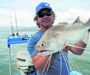 The threadfin salmon have been keeping anglers busy during the closed barra season.
