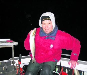 After dark whiting fishing at Torquay can get chilly!