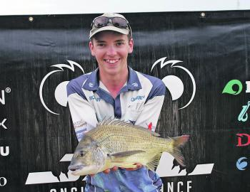 Cameron Cleal from Team Finding Nemo with the 138kg JML Anglers Alliance Big Bream.