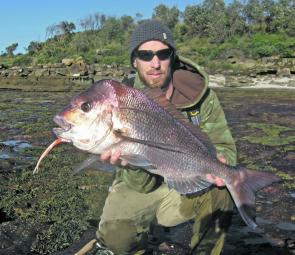 Six kilos of land-based snapper on plastic is a real handful on relatively light gear. Let the fish run all it likes and play it calm and success will come your way.