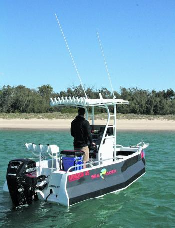The Sea Adex's massive reverse chine has a similar stabilising effect to outriggers on a canoe.