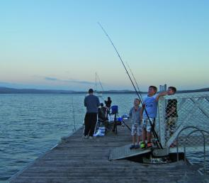 The local fishing platforms in the Tamar have been reliable, and popular, fishing spots.