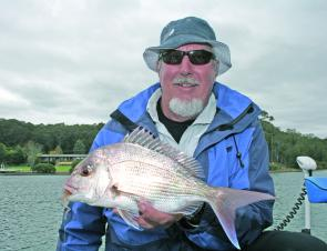 Not a bad snapper for the estuary and you'd be happy enough catching it on the inshore reefs.