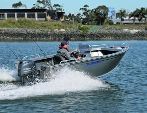 The unpainted 455 Avenger Sports felt like a real fishing boat – even without the electric motor.