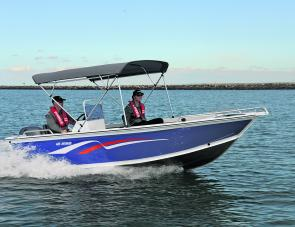 By simply adding a bimini top, the Avenger becomes family friendly with sides high enough to keep most waves out and kids in.