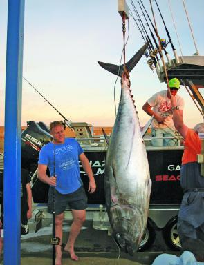 Adam Richardson's 116kg tuna taken off Warrnambool in the 2012 season. The big on question everyone's mind will be where and if they turn up this year.
