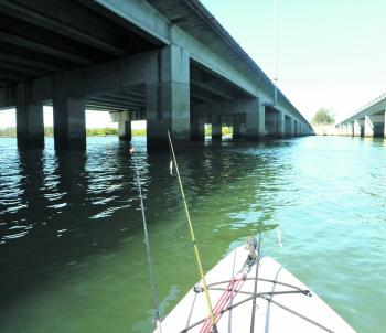 Bridge pylons are prime deep water structure.