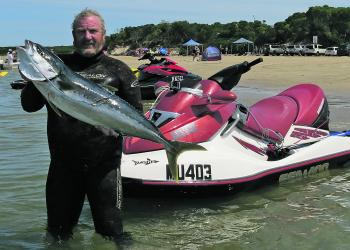 Diving from a jet ski can mean convenience in a lot of ways.