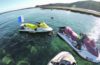 The movement is catching on and plenty of divers are getting jet skis.