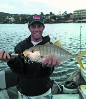 This golden trevally caught by Brad McLean took a liking to a River2Sea bibbed minnow.