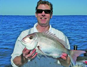 Dean Candy with a typical Apollo Bay snapper taken from 40m of water.