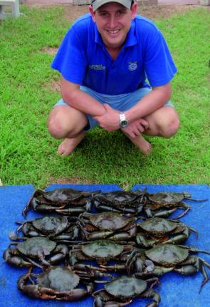 April is one of Bowen's best months to target mud crabs and there seems to be plenty around at the moment.