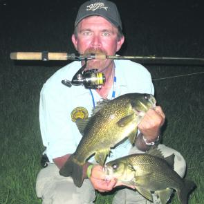 The author used threadline tackle to coax these bass out of the Hawkesbury.