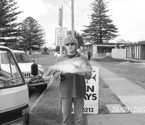 Nelson Millich with 4.7kg snapper.