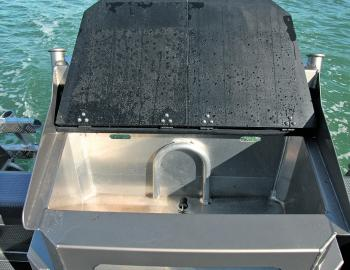 Anglers aboard the Supercab will certainly make best use of the craft's large live bait well.