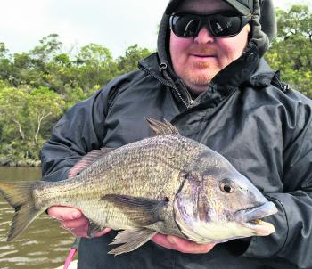 Clint Northcott with a big Glenelg bream.