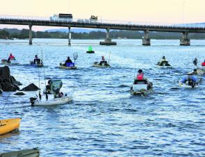Thirty-five anglers hit the water each morning at Forster.