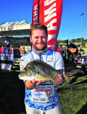 Vaughn Lewis with his Clarence Big Bream that helped propel him into second place for the Non-Boater Division.