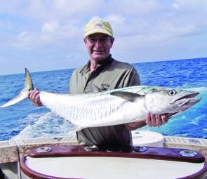 There is plenty of action to be had on the light tackle scene with specimens like this Spanish mackerel still on offer.