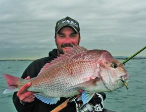 After a wet winter, many anglers will be hoping snapper like this 6kg specimen from a couple of seasons ago will again be a feature of our spring and summer fishing on the bay.