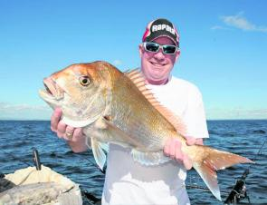 Snapper like this one caught by Pete Ward of Fishing Fever are still well and truly on the bite this month.