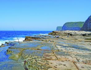 The famous South Avoca rock platform is generally quite safe, but it can be dangerous if the seas are a bit rough.