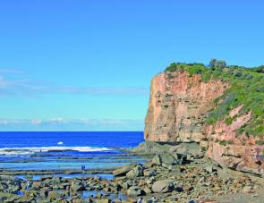 The prominent wedge-shaped Terrigal Skillion is a major landmark. Good rock fishing is available below the Skillion, with bonito, kingfish, bream, drummer and luderick common captures.