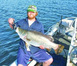 Tubby with an impressive barra taken from Monduran last month.