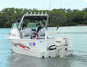 From the berley bucket through to the 11 rod holders on board, the Quintrex 610 Trident oozes fishing cred.