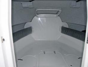Deep storage compartments under bunks were just one aspect of the 650F's features that owners could enjoy.