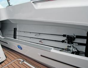 Rod rack equipped side pockets within the 650F's cockpit offer impressive storage capacity.