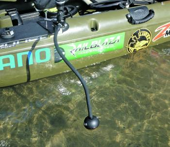 The Deeper is a simple and effective sounder option for kayak anglers.