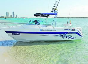 The Haines Hunter 585 R Breeze combines ample fishing features with a very attractive design.