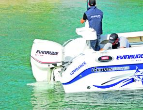 The 150hp E-Tec made easy work of powering the 585R Breeze.