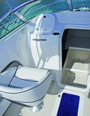 The well-padded bucket seats are a great feature of this great fishing craft and the craft's under floor storage can be made into an icebox if required.