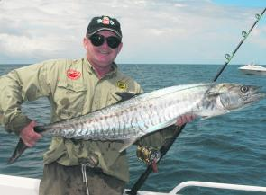 Mostly it's spotties this far south but narrow-barred Spanish mackerel have been caught as far south as Jervis Bay in the past.