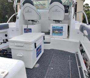The new white Tropical ice-box will look the part in any boat.