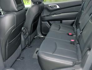 Leather trim and lots of room are prominent features of Pathfinder Mark four.