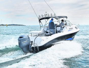 Powered by the superlative Yamaha 150 4-stroke outboard, the Whittley jumps onto the plane and displays remarkable fuel economy.