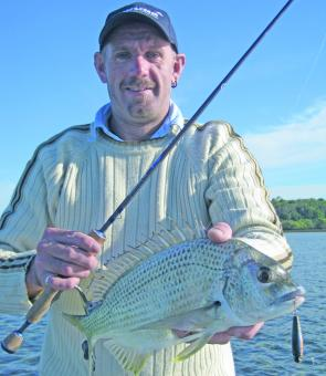 Rhoul shows the quality of bream that can be caught on the surface around the Bay islands at this time of the year.