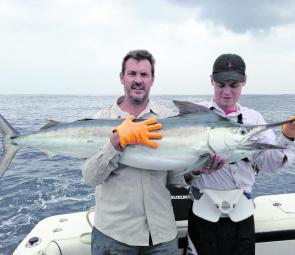 Brendan and William Guthrie have been taking advantage of the outstanding offshore fishing with a great marlin capture.