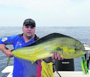 Trolling offshore is producing excellent captures like this mahi mahi.