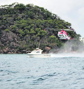 You never know what you will see when out on Pittwater. These skilled and dedicated people are practicing rescues so we can all be safer.