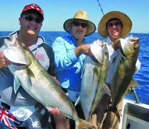The wider grounds like the 35, 37 and 42 fathom reefs will be a great place to target amberjack this month.