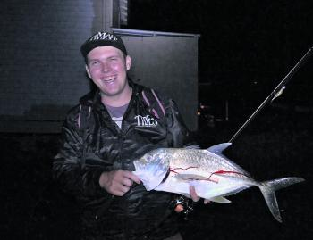 A nice trevally taken on the Tweed River at night.